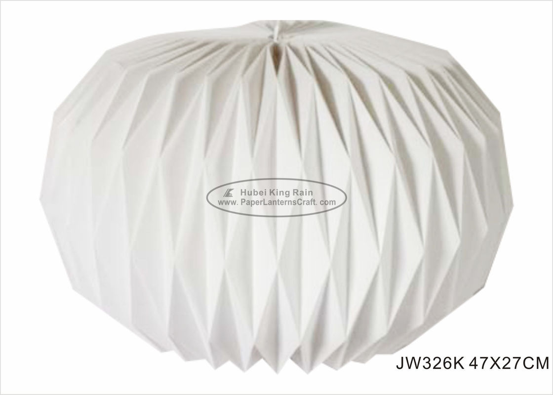 White Origami Paper Lantern Ball 47X27cm For Shop Decorations Party Festival