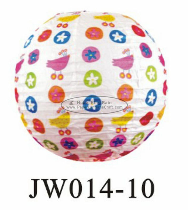 buy Number Printed Kids Paper Lanterns , 10 Inch 14 Inch Indoor Hanging Paper Lanterns online manufacturer