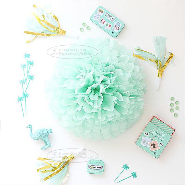 Paper Flower Balls Tissue Paper Pom Poms For  Birthday/Wedding/Party Decorations